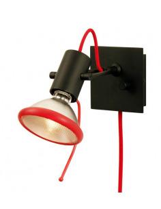Applique arquée design noir/rouge au design minimaliste
