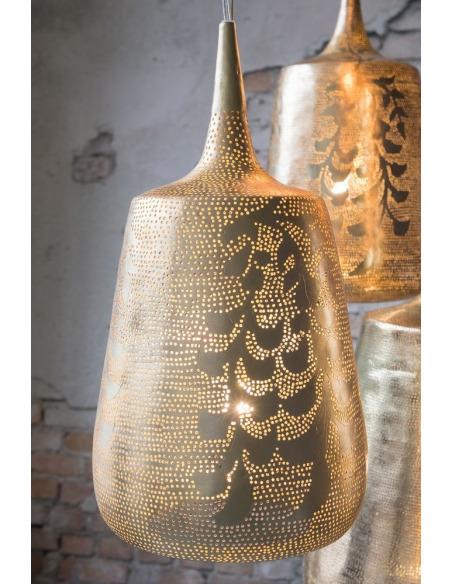 Suspension orientale Trophy Blossom Ø26 cm en laiton par Zenza