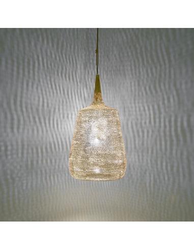 Suspension orientale Trophy Filisky Ø22 cm en laiton couleur or par Zenza