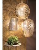 Suspension orientale Tropic Leaf Ø45cm XXL Gold en laiton couleur or par Zenza
