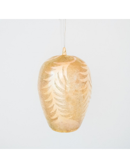 Suspension orientale Tropic Leaf Ø45cm XXL Gold en laiton couleur or par Zenza