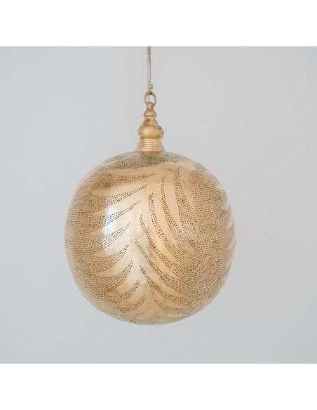 Suspension orientale Ball Leaf Ø40cm XL Gold en laiton couleur or par Zenza