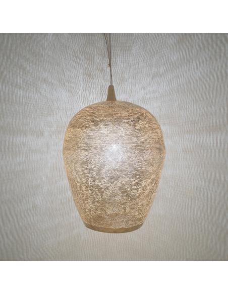 Suspension Tropic Filisky Ø40cm en laiton couleur or par Zenza