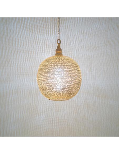 Suspension design oriental Filisky Ball Ø27cm en laiton couleur or par Zenza