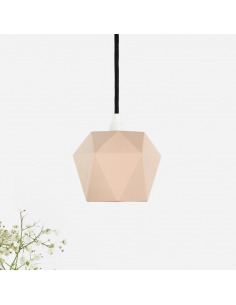 Suspension en porcelaine K1 saumon Triangular par Gant lights