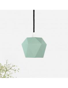 Suspension en porcelaine K1 menthe Triangular par Gant lights