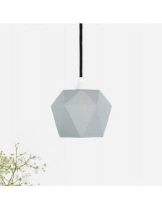 Suspension en porcelaine K1 grise Triangular par Gant lights