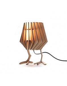 Lampe à poser pour chambre d'enfant CHICKEN-SPOT en bois découpé au laser au design scandinave par Van Tjalle en Jasper
