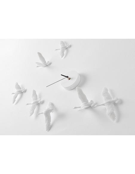 Horloge design oiseaux Migrantbird X CLOCK - C par Haoshi