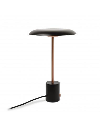 Lampe à Poser Design Casino LED Noir Et Cuivre Avec Régulateur De Lumière  Par XJeR Studio