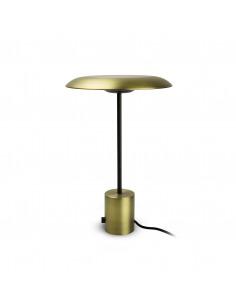 Lampe à poser design Casino LED or satiné et noire et cuivre avec régulateur de lumière par xJeR Studio