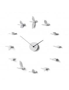 Horloge design ronde oiseaux Migrantbird X CLOCK O par Haoshi