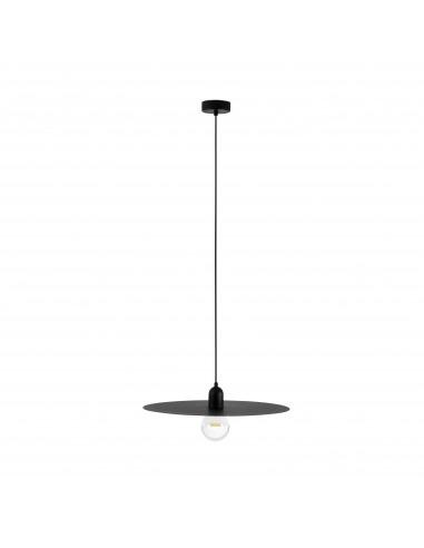 Suspension Plato noir en métal au design minimaliste