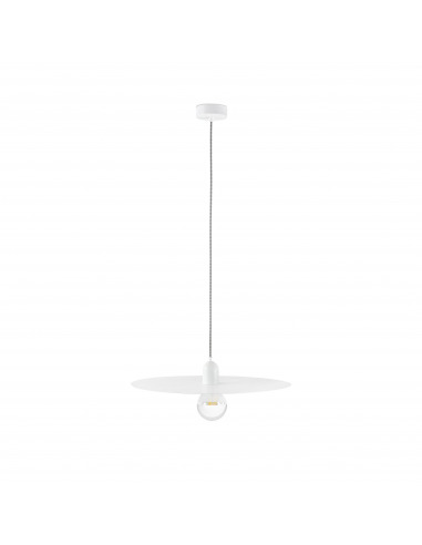 Suspension Plato blanc en métal au design minimaliste