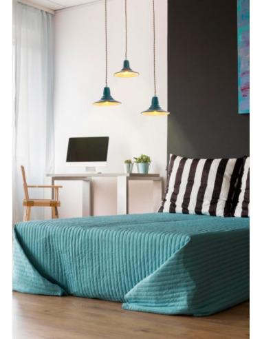 suspension vintage el tempo bleu en m tal au design industriel. Black Bedroom Furniture Sets. Home Design Ideas