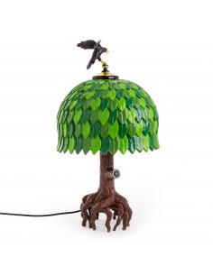 Lampe à poser Tiffany Tree en forme d'arbre par Studio Job X Seletti