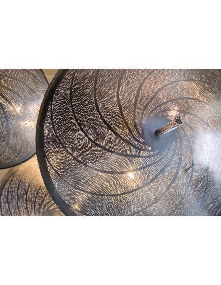 Suspension orientale Cosmos Swirl Ø60cm en laiton couleur argent par Zenza