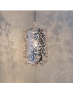 Suspension orientale Lampoon Blossom Ø20cm en laiton couleur argent par Zenza