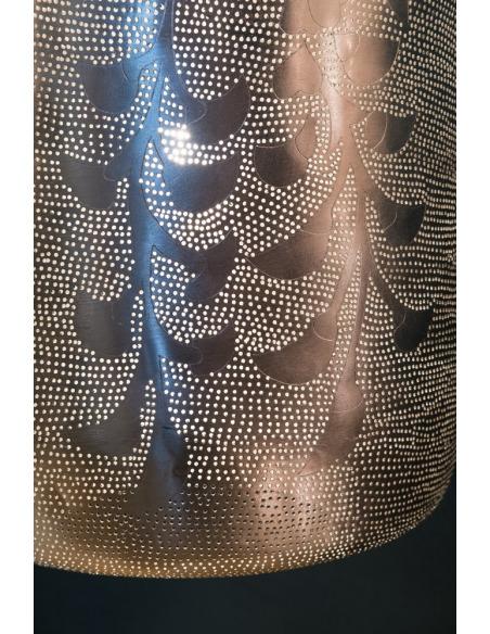 Suspension orientale Lampoon Blossom Ø45cm Large en laiton couleur argent par Zenza