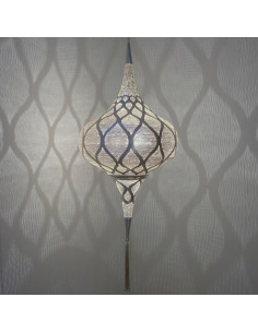 Suspension orientale Grace Moorish Ø20cm Small en laiton couleur argent par Zenza