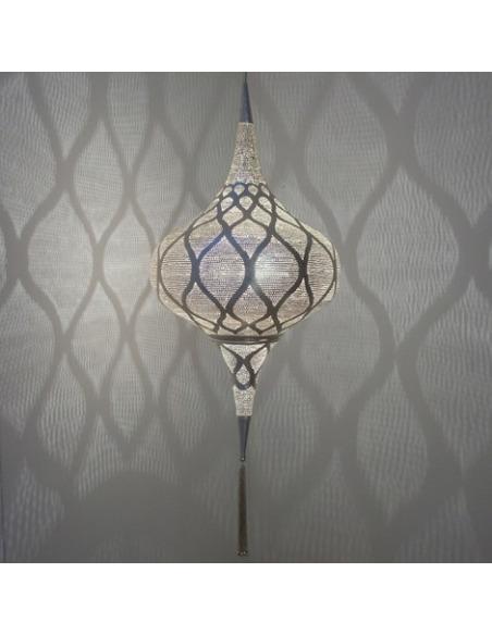 Suspension orientale Grace Moorish Ø20cm Small en laiton couleur argent par Zenza