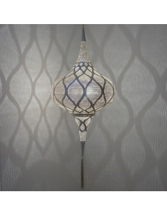 Suspension orientale Grace Moorish Ø41cm Large en laiton couleur argent par Zenza