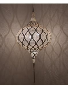 Suspension orientale Grace Moorish Ø55cm XL en laiton couleur argent par Zenza