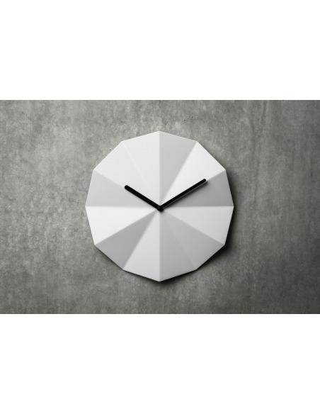 Horloge murale minimaliste Delta Clock blanc