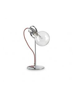 Lampe à poser Bernardus chromé en métal chromé et cable en tissu