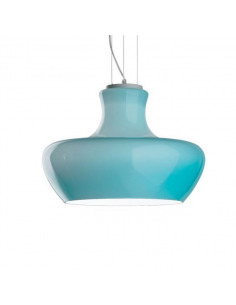 Suspension Aladin bleu Ø 45 en verre souflé au design contemporain