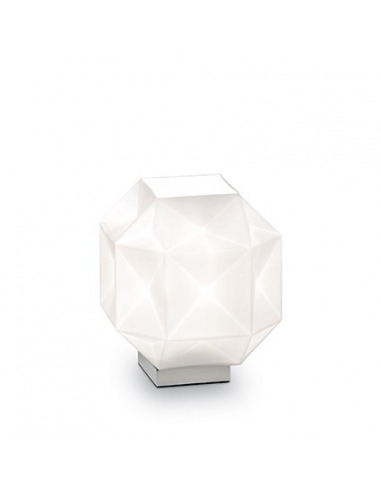 Lampe à poser Diamant en verre souflé au design graphique