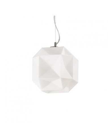Suspension Diamant L en verre souflé au design graphique