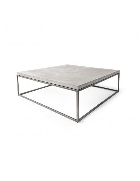 Table basse Perspective XL en métal et plateau en béton au style industriel par Lyon Beton