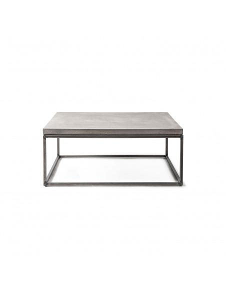 Table basse Perspective L en métal et plateau en béton au style industriel par Lyon Beton