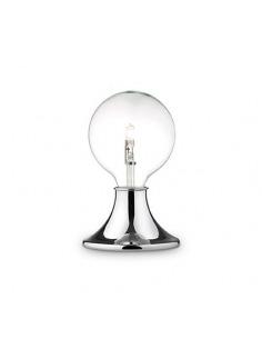 Lampe à poser Simplo chromé en métal chromé avec variateur