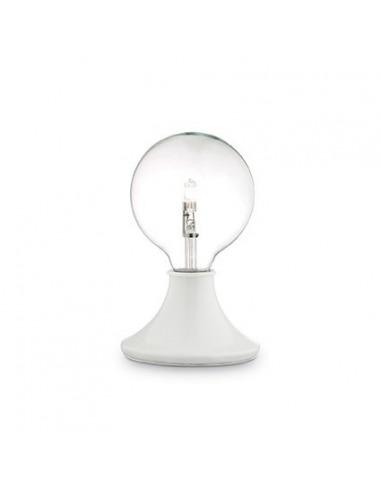 lampe poser simplo blanc en m tal avec variateur au design contemporain. Black Bedroom Furniture Sets. Home Design Ideas