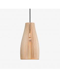 Suspension ENA Ø14 cm en bouleau naturel découpée au laser au design scandinave par IUMI Design