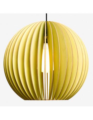 Suspension AION XL Ø48,5cm en bouleau naturel découpée au laser au design scandinave par IUMI Design