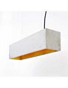 Suspension B4 en béton - Intérieur Or au design industriel