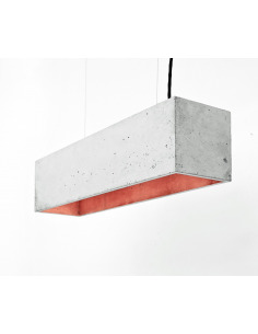Suspension B4 Beton - Interieur Cuivre
