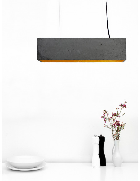 Suspension B4 Beton Noir - Interieur Or