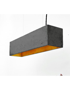 Suspension B4 Noir en béton - Intérieur Or au design industriel