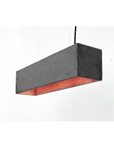 Suspension B4 Noir en béton - Intérieur Cuivre au design industriel