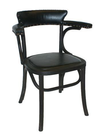 Chaise Vintage Retro Avec Structure En Bois Et Sige Cuir