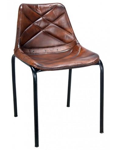 Forme De Un Design Noire Chaise Et Croix Au Vintage Originale Couleur Rembourrage Cousu Une Avec Structure Croiso En L3j54AqRcS