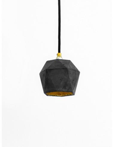 suspension design t2 triangle noir en b ton. Black Bedroom Furniture Sets. Home Design Ideas