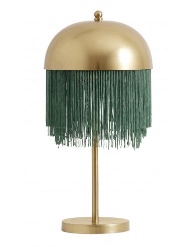 Lampe à poser vintage fringes en laiton par Nordal