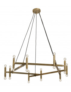 chandelier Brass 20 LED en laiton