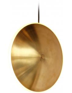 Suspension en laiton Dish10v Ø24 chrona par Graypants X Seth Grizzle et Jonathan Junker en forme de soucoupe