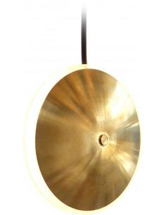Suspension en laiton Dish6v Ø14 chrona par Graypants X Seth Grizzle et Jonathan Junker en forme de soucoupe